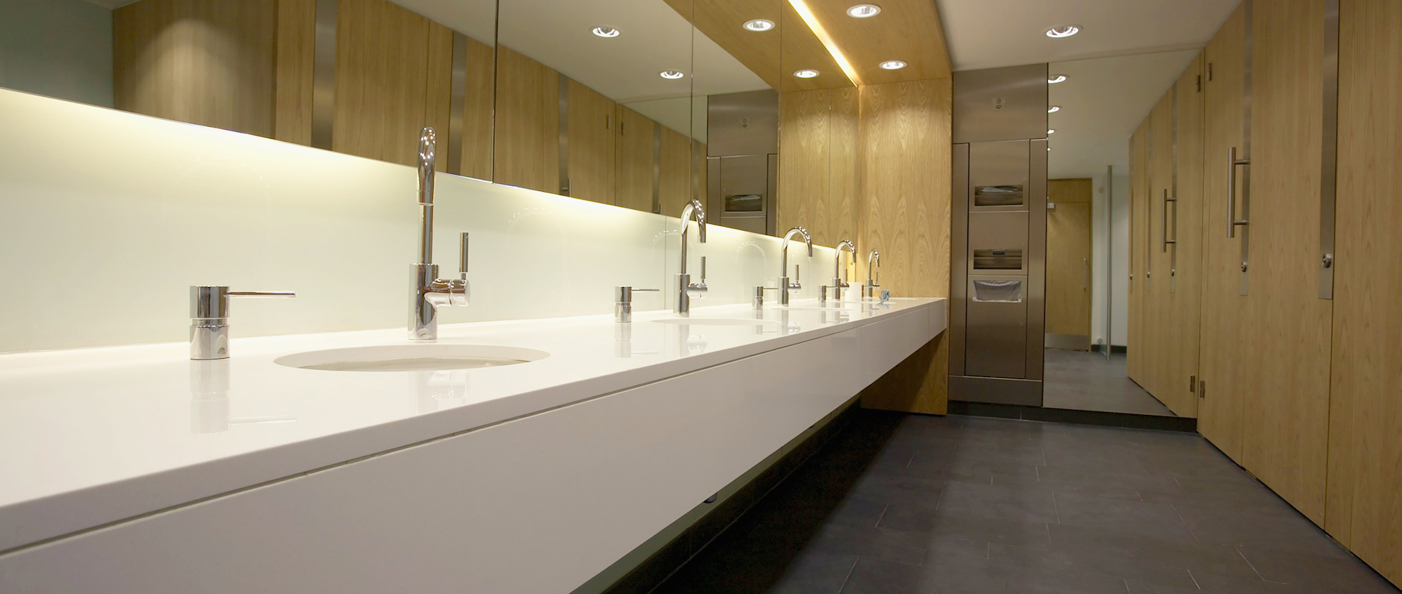 Commercial Bathroom and Washroom Renovations.