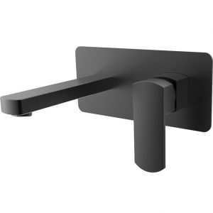 KOKO Matte Black Wall Mixer with Spout 218106B