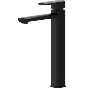 KOKO Matte Black Tall Basin Mixer 218107B