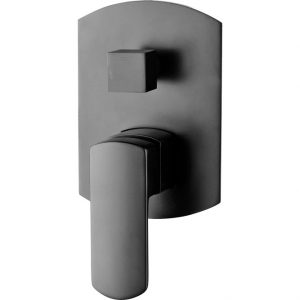 KOKO Matte Black Wall Mixer Diverter 218102B
