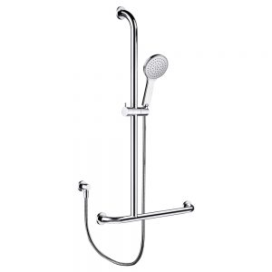 LUCIANA CARE Inverted T Rail Shower, Left-Hand 444113LH